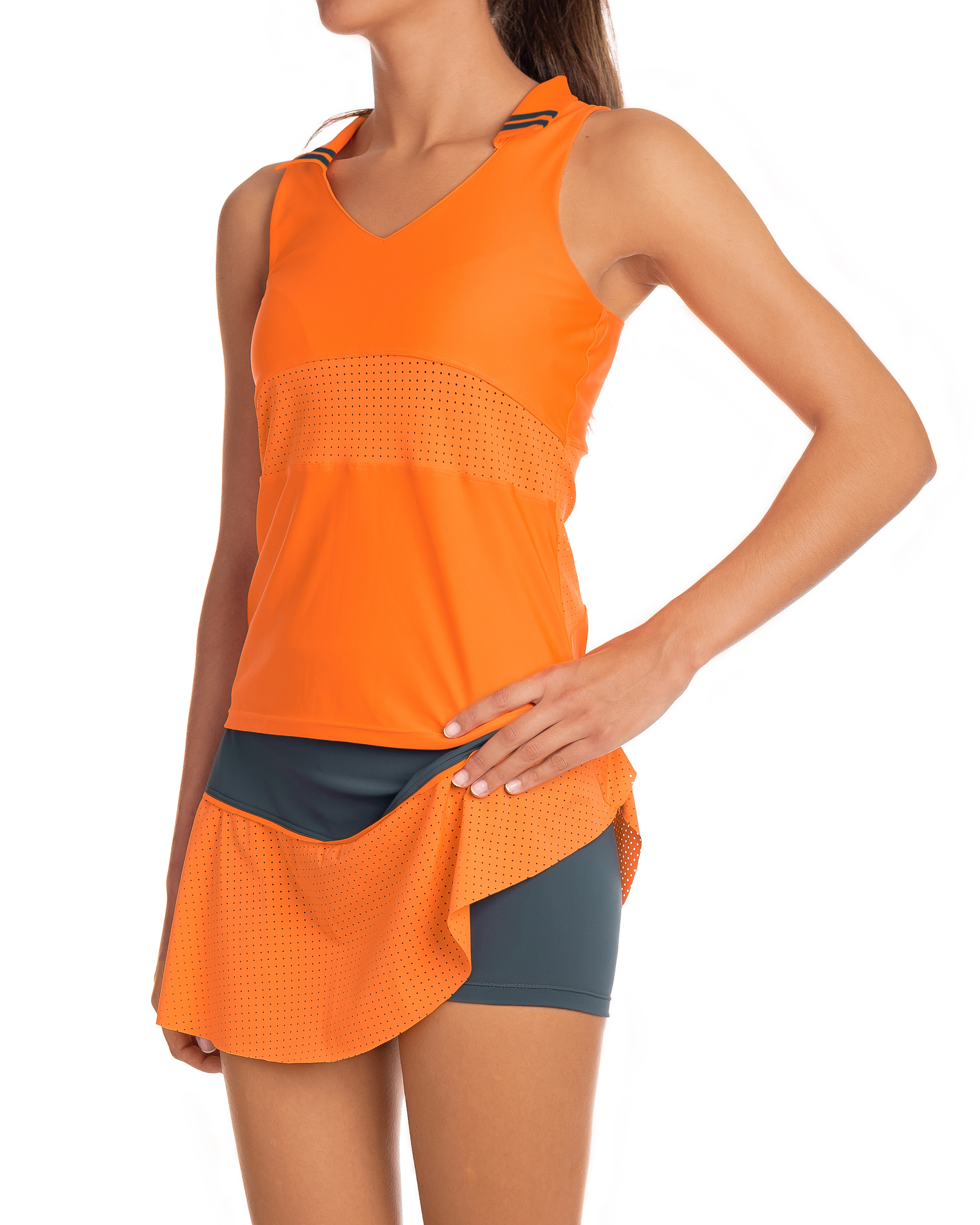Deportiva Mujer Naranja Naranja Camiseta Mujer CxBordeW