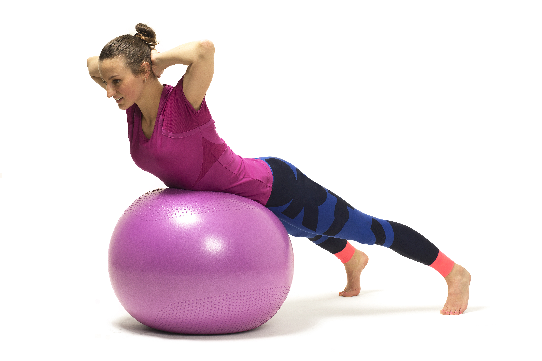 la pelota de fitball boca abajo Como utilizar la pelota de fitball para  estiramientos y ejercicios ec6a4a0a77f8