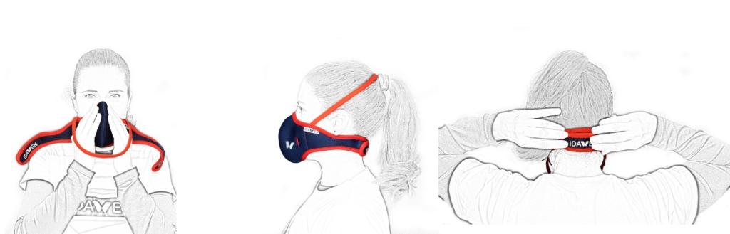 como poner mascara 1024x329 Os presentamos nuestra nueva máscara deportiva con filtro de nanofibras desarrollado por el CSIC