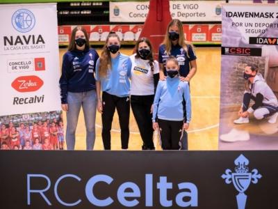 Celta Basket con la máscara IDAWEN