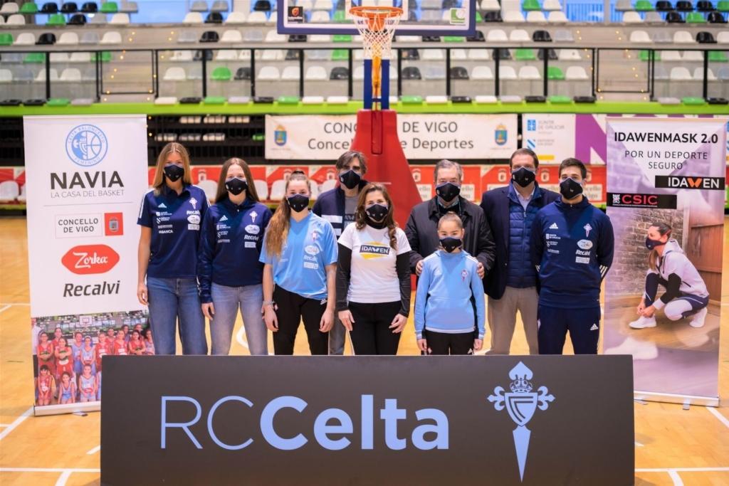 Notas de prensa 2021 02 03T171153.440 1024x683 El Celta Basket llevará nuestra máscara de deporte